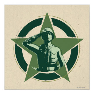 Army Sarge Salutes Poster