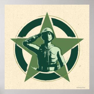 Army Sarge Salutes Poster