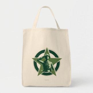 Army Sarge Salutes Tote Bag