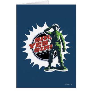 Army Sarge: Sir, Yes Sir! Card