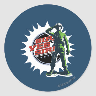 Army Sarge: Sir, Yes Sir! Classic Round Sticker