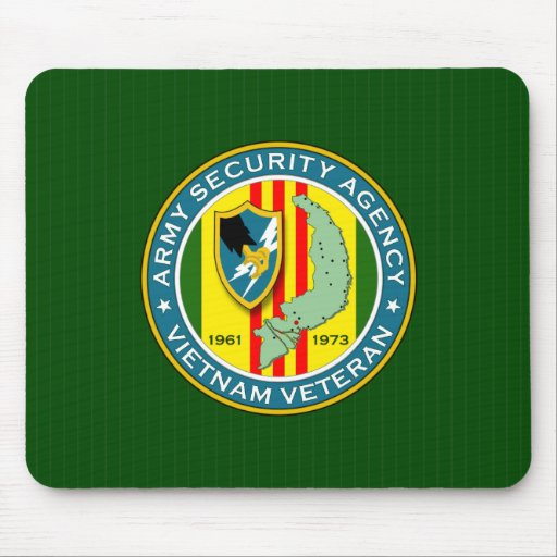 Army Security Agency Vietnam Veteran Mouse Pads