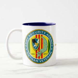 Army Security Agency - Vietnam Veteran Two-Tone Coffee Mug