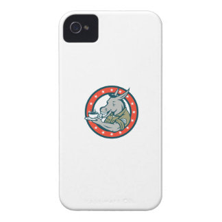 Army Sergeant Donkey Coffee Circle Cartoon Case-Mate iPhone 4 Case
