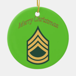 Army Sergeant First Class Christmas Ornament