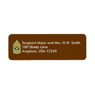 Army Sergeant Major Address Label