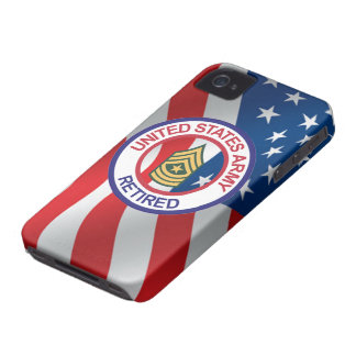 Army Sergeant Major Retired iPhone 4 Case