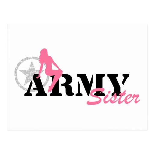ARMY - Sexy Sister Postcard