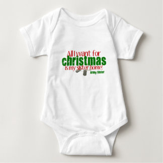 Army Sister All I want Sister Infant Creeper