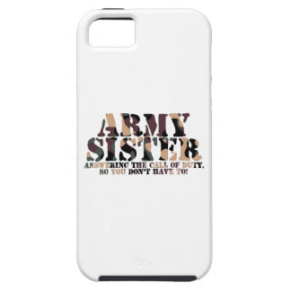 Army Sister Answering Call iPhone 5 Cover