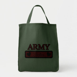 Army Sister Grocery Tote Bag