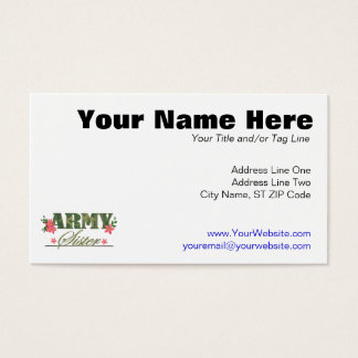 Army Sister Business Card
