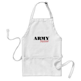 Army Sister (cursive) Aprons