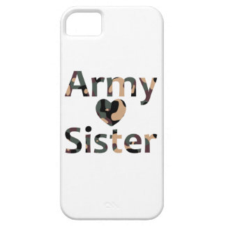 Army Sister Heart Camo iPhone 5 Case