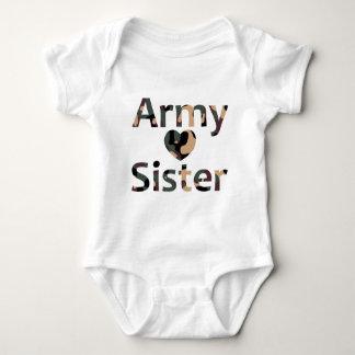 Army Sister Heart Camo Tshirts