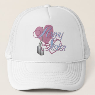 Army Sister Hearts N Dog Tags Trucker Hat