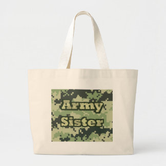 Army Sister Large Tote Bag