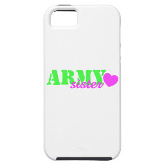 Army Sister Lime Green Pink Heart iPhone 5 Cover