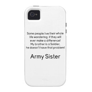 Army Sister No Problem Brother iPhone 4/4S Covers