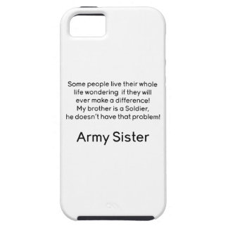 Army Sister No Problem Brother iPhone 5 Case