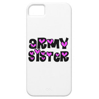 Army Sister Pink Hearts iPhone 5 Covers