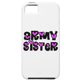 Army Sister Pink Hearts iPhone 5 Cases