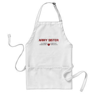 Army Sister Sacrifice, Strength, Courage Adult Apron