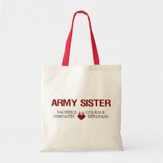 Army Sister Sacrifice, Strength, Courage Tote Bag