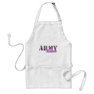 Army Sister Zebra Print Aprons
