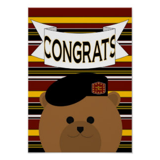 Army Soldier Congrats! Poster