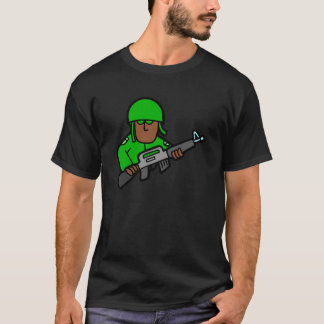 Army Soldier Green Camo Military Designer Art T-Shirt