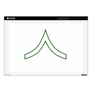 """Army Soldier Rank Insignia 17"""" Laptop Skins"""
