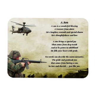 Army Soldier Son Poem Magnet