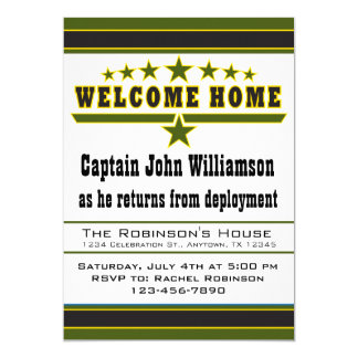 Army Soldier Welcome Home Invitation