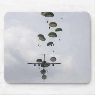 Army Soldiers jump out of a C-17 Globemaster II Mouse Pad