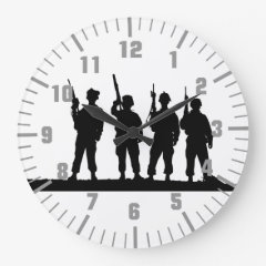army soldiers wallclock