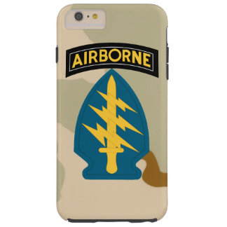 """Army Special Forces """"Green Berets"""" Desert Camo Tough iPhone 6 Plus Case"""