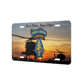 Army Special forces Green Berets lrrp lrrps recon License Plate