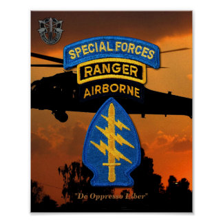 Army Special Forces Green Berets Rangers SF SFG Poster