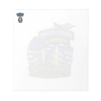 Army Special Forces green berets veterans Notepad