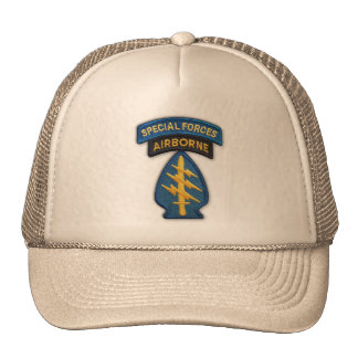 army special forces veterans patch hat