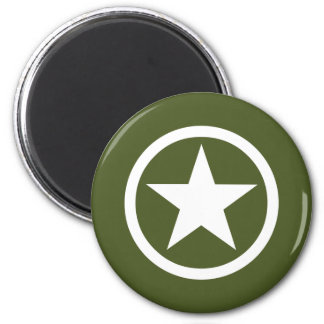 Army Star 2 Inch Round Magnet