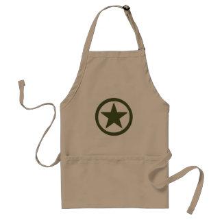 Army Star Adult Apron
