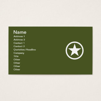 Army Star Business Card