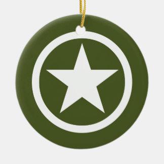 Army Star Ceramic Ornament