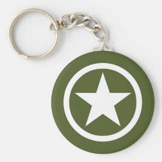 Army Star Keychain
