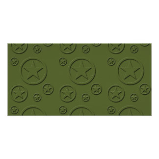 Army Star pattern Picture Card