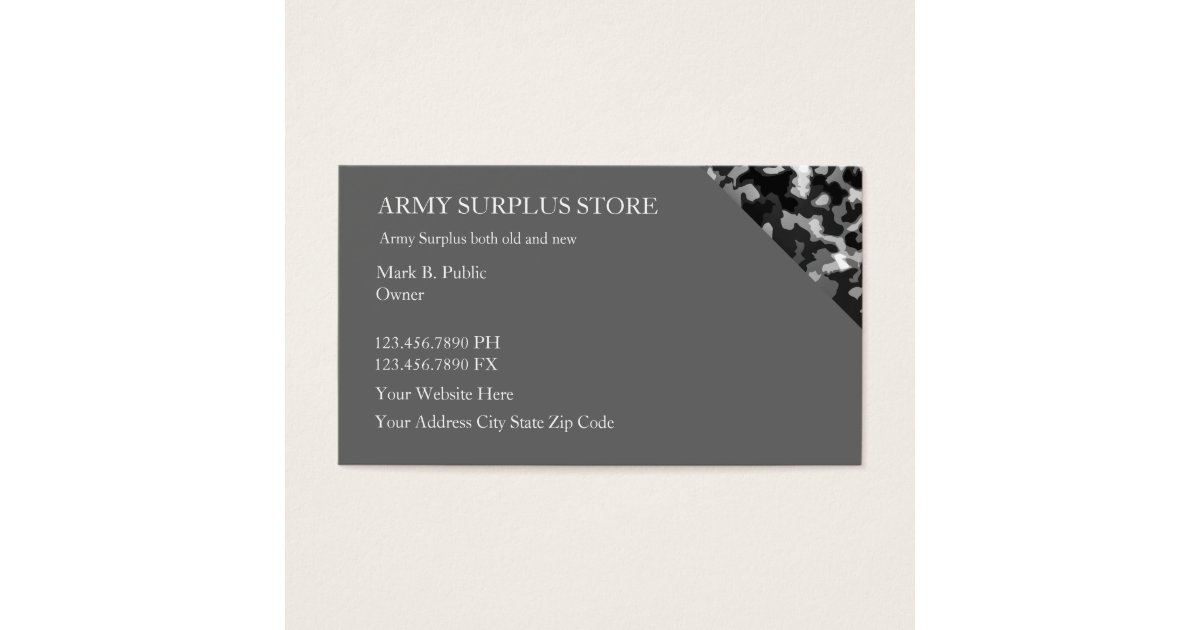 Army Business Cards, 1700+ Army Business Card Templates