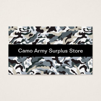 Army Surplus Store Business Card