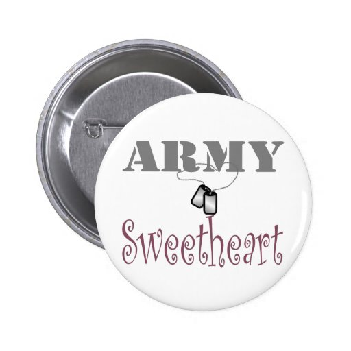 Army Sweetheart 1 2 Inch Round Button
